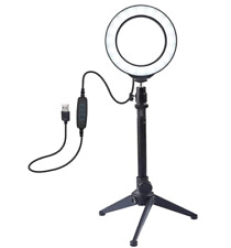 12cm LED Ring Light Lamp Makeup Camera Studio Video Dimmable Tripod Stand NEW