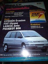 REVUE TECHNIQUE AUTOMOBILE N°576 CITROEN EVASION FIAT ULYSSE PEUGEOT 806