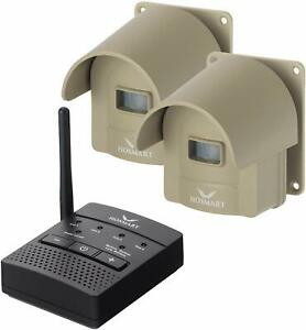 New1/4 Mile Hosmart Rechargable Driveway Alarm Wireless TWO Sensors System