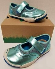 Kids Girls Plae Emme Water Blue Machine Washable Toddler Size 8M Mary Janes NIB
