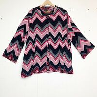 Grace Dane Lewis Woman Chevron Sweater Set Size 3X