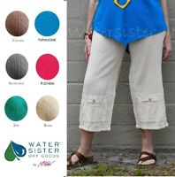 WATERSISTER Cotton Gauze  CASPER  Crop Pant 1 (S/M) 2 (L/XL) 3 (1X+) DISC COLORS