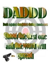 DADDD - Dads against daughters dating dumba**es #2   iron on transfer  8x11