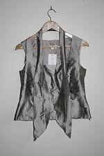 Kirsten Krog Design Woman's Fashion Designer Corset Top Silver Pure Silk Size 10