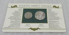 1937 & 1987 Walking Liberty Year Set * 1 oz. Silver Eagle & Silver Half Dollar