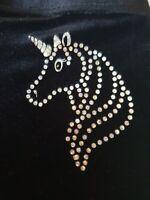 Girls personalised Unicorn Gymnastic shorts Black high Quaility Velour by Selani