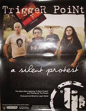 TRIGGER POINT Silent Protest, original promotional poster, 2005, 18x24, VG+