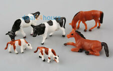 Lot 20pcs HO Scale Animals 1 87 for Model Train Layout ( Cow Horse)