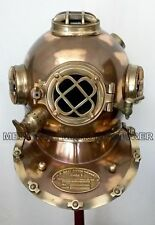 BOSTON ANTIQUE VINTAGE SOLID IRON & ALUMINUM DIVING DIVERS HELMET SOLID GIFT