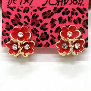 Betsey Johnson Red Flower Earrings