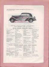 FRANKFURT/M., Typentafel 1934, Adler-Werke Typ Trumpf 1,5 AV 1,7 AV, DIPLOMAT