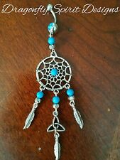 Magical HEALING/SPIRITUAL Turquoise Dream Catcher/Triqueta Belly Ring