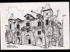 SAINT-JEAN-DE-LUZ (64) CHATEAU de LOHOBIAGUE illustré par G. WATTERSON en 1985