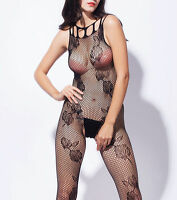 Lady open crotch Lace Fishnet Bodystocking Bodysuit Lingerie Babydoll Nightwear
