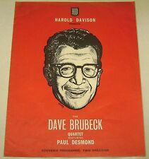Dave Brubeck Quartet UK Concert Programme / Joe Harriott Quintet / Paul Desmond