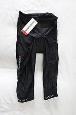 New Louis Garneau Women's Quantum Cycling Bike Knickers Padded Large NWT Black