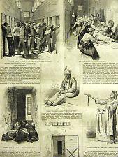 Insane BLOCKLEY Almsouse Philadelphia MANIAC PSCHIATRY 1875 Print & STORY Matted