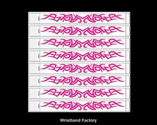 100x Tyvek Tribal Neon Pink Party Function Wristbands