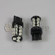 2 x Bombillas 27 LED SMD 5050 Rojo CANBUS T20 W21/5W Coche Freno y Posicion...