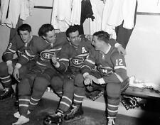 Jean Beliveau, Bernie Geoffrion, Dickie Moore Montreal Canadiens 8x10 Photo