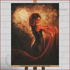 Mark Spain Flamenco Dancer Large Framed Box Canvas Print Picture Wall Art Tango