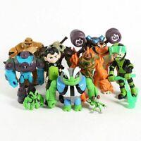 11 Pcs Ben 10 Action Figures Toy Set: Tennyson Four Arms Heatblast Cake Toppers