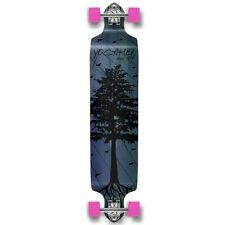 Yocaher Drop Down Longboard Complete - In the Pines : Blue