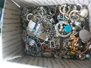 Lot Of Vintage To Now Broken Jewelry/Beads For Crafts Repurpose~17lbs.1ozs. #33