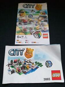 Lego City (Alarm Game) 3865 Instructions Manual + Catalogue. **RARE**