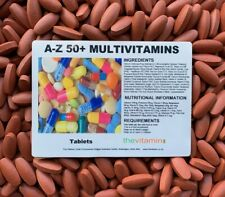 The Vitamin A - Z / 50+ Multi Vitamins 180 Tablets - Bagged