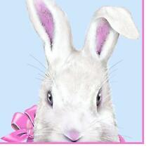perproducts Design PPD Paper Beverage Napkin, 5-In Easter Bunny w Pink Bow