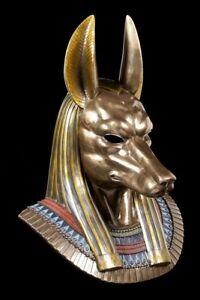 Ägyptische Götter Maske - Anubis Kopf - Veronese Figur Statue Gott Ägypten