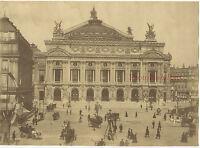 Parigi Place Di Opera Vintage Albumina Ca 1885