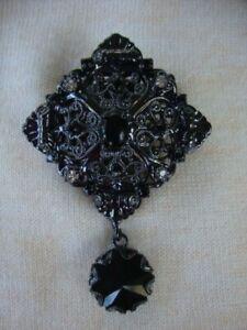 "Broche ""The Kooples"" en métal (neuf) couleur noir"