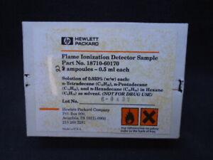 AGILENT HP 0.5mL Flame Ionization Detector Sample Thermal Conductivity 2 Ampules