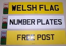 NUMBER PLATE WELSH BADGE 1 FRONT OR REAR  REGISTRATION PLATE FREE POST