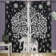 Cotton Wall Hanging Door Window Door Curtain Tapestry Hippie Elephant Tree Art