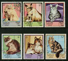 LAOS - 1983 'DOMESTIC CATS' Set of 6 CTO [B6615]