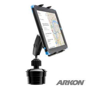 TABRM023-S Arkon Heavy Duty Cup Holder Mount for Apple iPad Samsung LG Tablet
