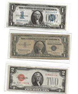 (2) $1 Dollar & (1) $2 Bill