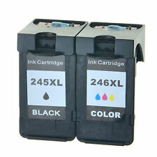 2 PK Ink Cartridge Set For Canon Black & Color 245XL 246XL PIXMA MG2520 Printer