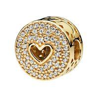 925 Sterling SilverHeart of Luxury Clips Stoppers European Bracelet Clip Charm