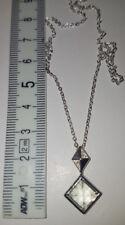 Grüner Amethyst-Silberhalskette 45cm Sterlingsilber 925 Juwelo