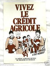 Publicité Pub Vivez le Crédit Agricole services années 1980