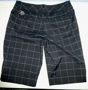 Women's Nike Golf Dri-Fit Black Checker Shorts Disney Golf 8 (M)