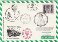 Austria 1972 900 Year lady Slogan Cancel Balloon Post Stamps FDC Cover Ref 28083