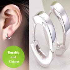 925 Sterling Silver Plated Small Ear Cuff Stainless Steel Punk Hoop Earrings