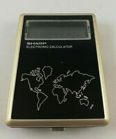 Vintage SHARP Electronic Calculator CT-550 Japan Made Clock World Time Zones
