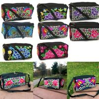 Women Flower Handmade Canvas Embroidery Ethnic Retro Shoulder Bags Handbag Tote