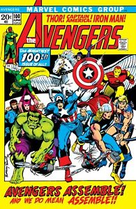 """THE AVENGERS #100 COMIC BOOK COVER 11""""x17"""" POSTER PRINT"""